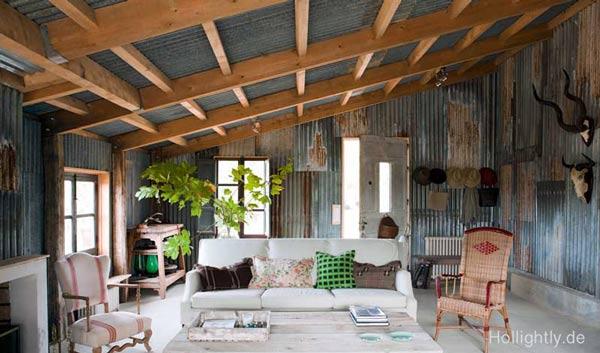 100-interiors Wellblech Wohnung in Frankreich