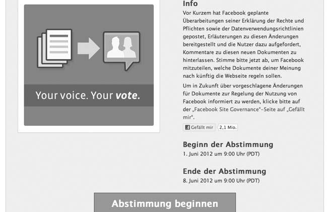 Facebook-Datenschutz-Abstimmung