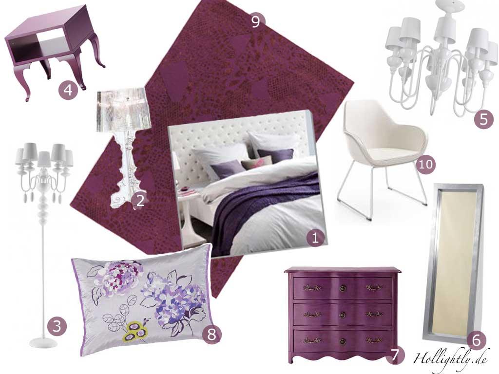 Ein hauch lila chesterfield weht durch die schlafzimmerwelt