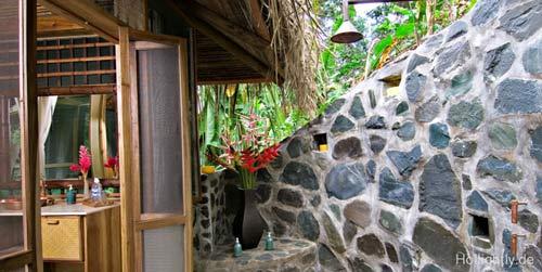 Outdoor Dusche Balkon : Duschen mitten im Dschungel