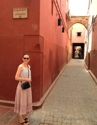 Gassen in Medina in Marrakesch