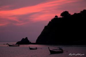 Sonnenuntergang im Pimalai