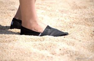 Toms im Sand