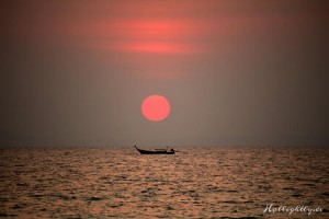 Sonnenuntergang im Zeavola