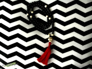 Mala Gebetskette Onyx schwarz total