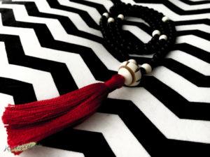Mala Gebetskette Onyx schwarz nah