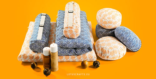 Nachhaltiges Yoga set - Pic via Lotuscrafts.eu