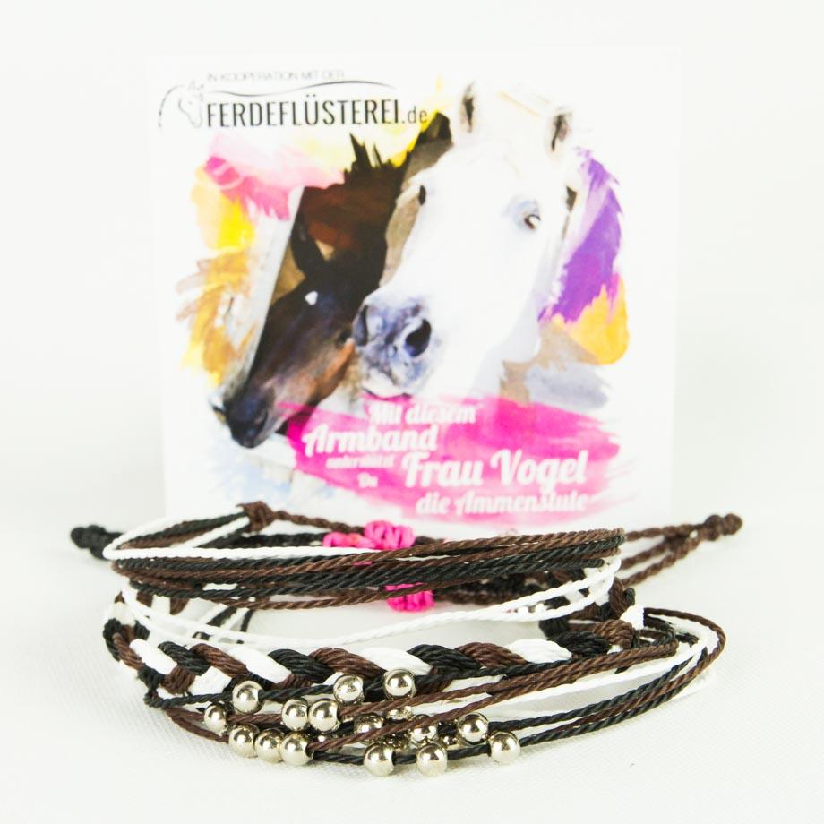 Charity Projekt Frau Vogel - Weltfreund Pferdeflüsterei Armbän